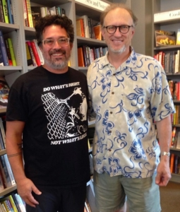 Tomas Moniz and Michael Downs at a bookstore in Baltimore.